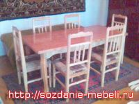 Комплект ном 3 - из 6 стульев и стола.