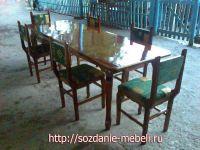 Комплект из 6 стульев и стола