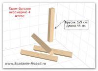 Как сделать деревянную табуретку - подробный чертеж
